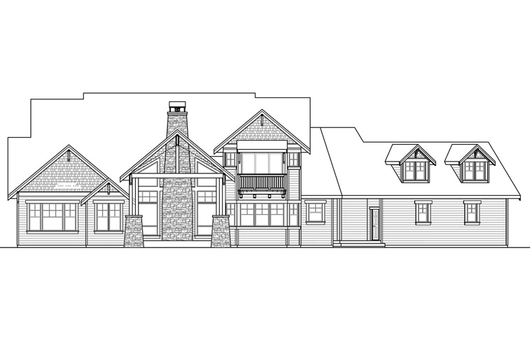 Country Craftsman Southern Traditional House Plan 41234 Rear Elevation