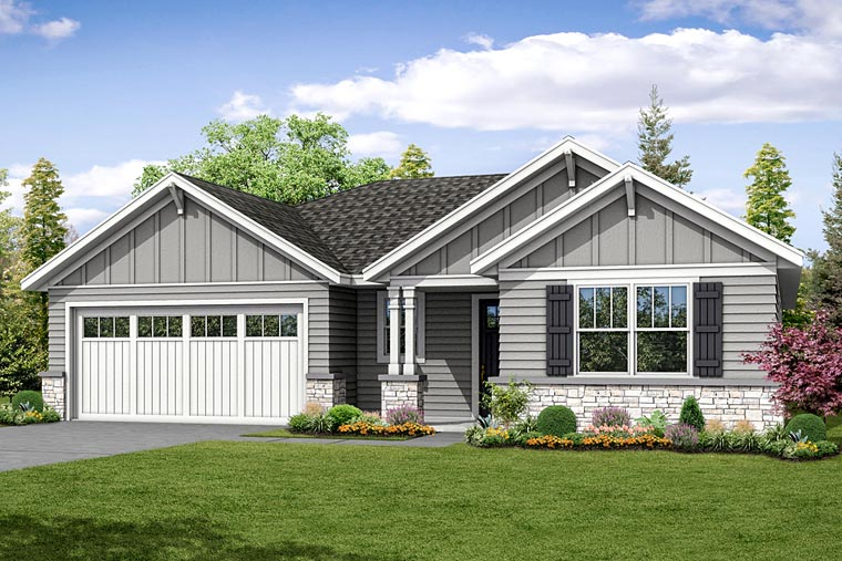 Cottage Craftsman Ranch House Plan 41238 Elevation