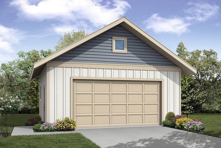 Traditional 2 Car Garage Plan 41242 Elevation