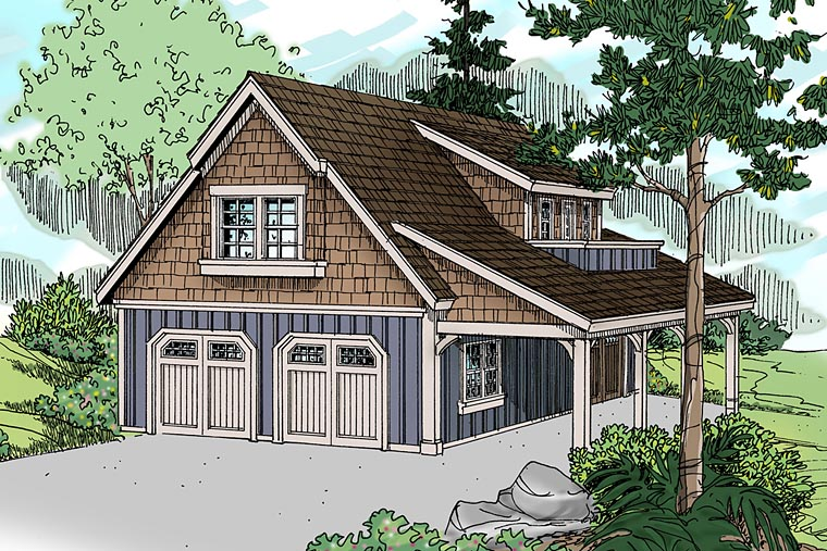 Craftsman, Traditional 2 Car Garage Plan 41246 Elevation
