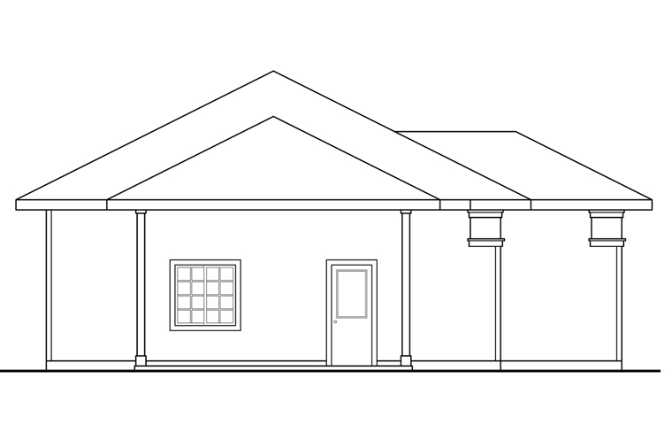 Traditional 4 Car Garage Plan 41247 Picture 1