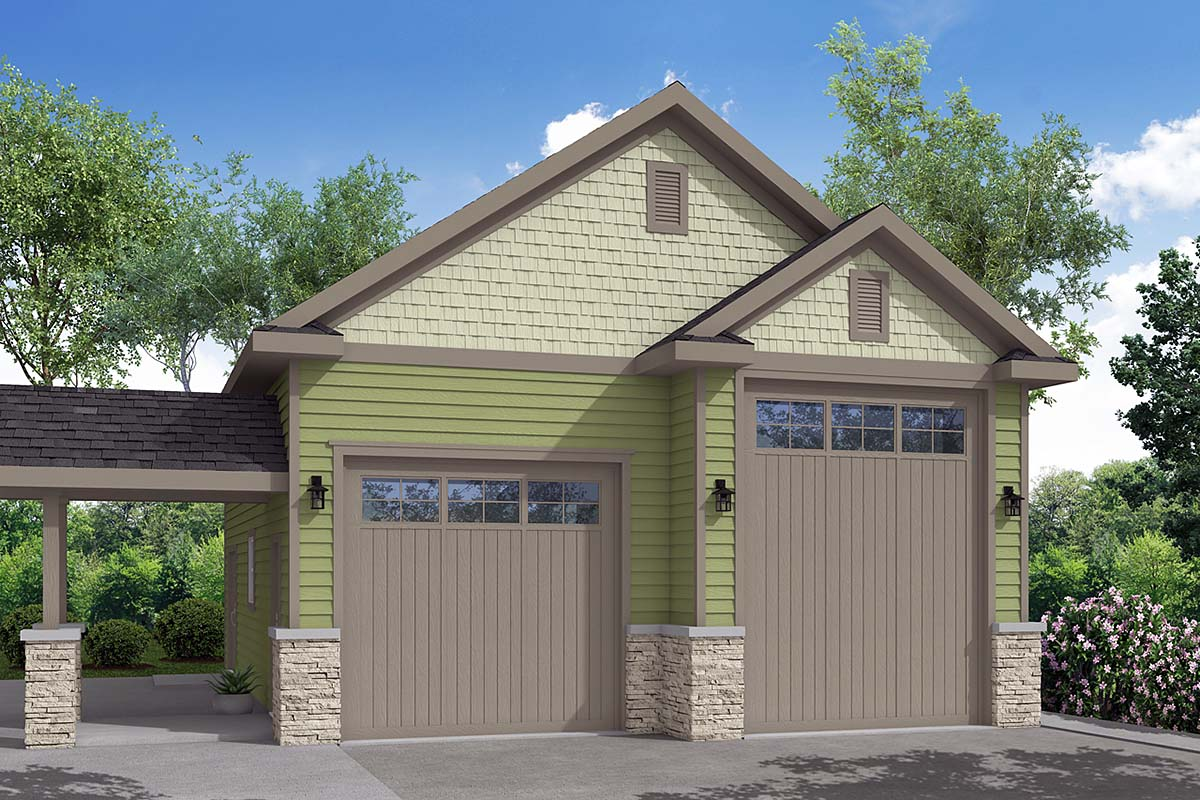 Traditional Garage Plan 41248 Elevation