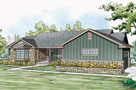 Country Ranch Traditional House Plan 41249 Elevation