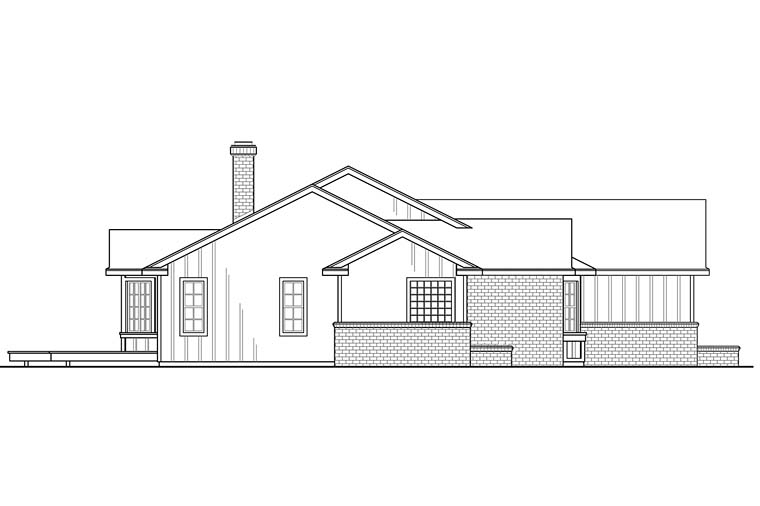 Country, Ranch, Traditional House Plan 41249 with 3 Beds, 3 Baths, 2 Car Garage Picture 1