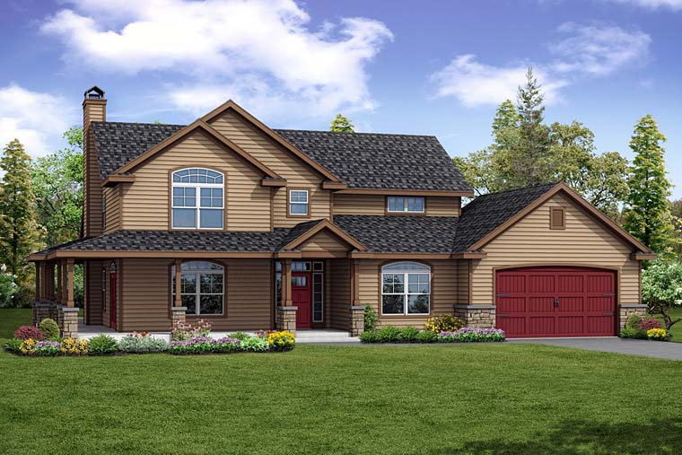 Country Farmhouse Ranch Traditional House Plan 41251 Elevation