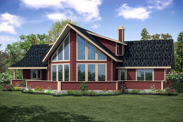 Cottage Country House Plan 41252 Rear Elevation