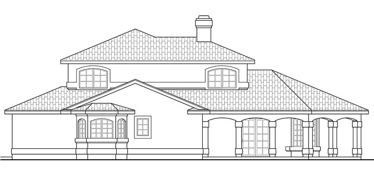 Florida, Mediterranean, Southwest House Plan 41256 with 2 Beds, 3 Baths Picture 1