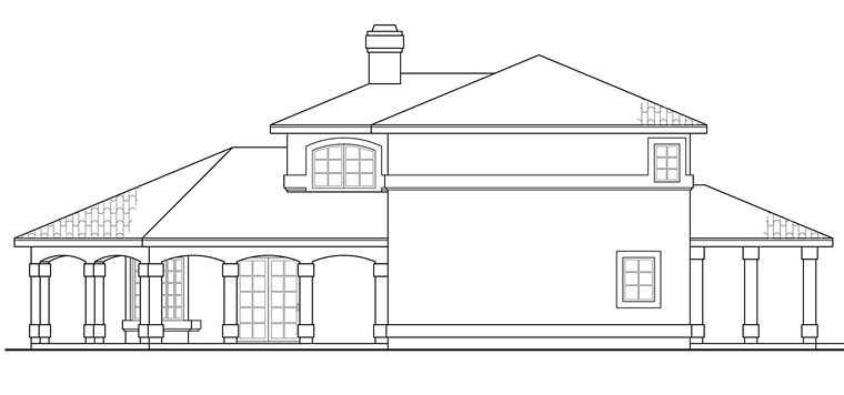 Florida, Mediterranean, Southwest House Plan 41256 with 2 Beds, 3 Baths Picture 2