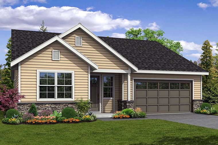 Cottage Country Ranch Traditional House Plan 41257 Elevation