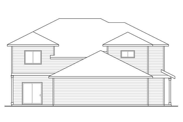 Traditional Multi-Family Plan 41258 Rear Elevation