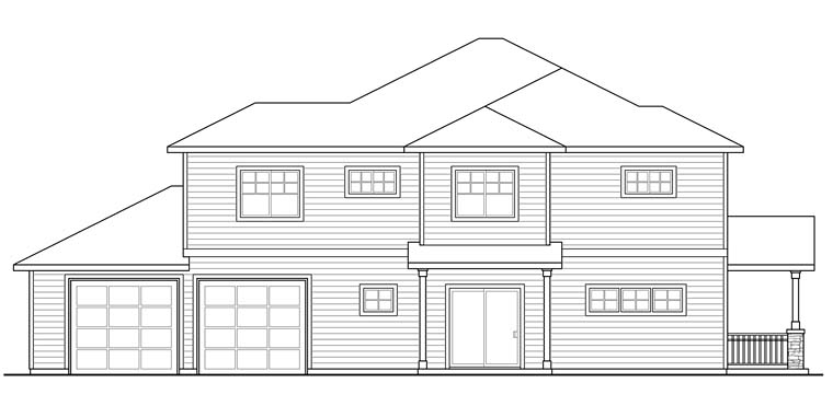 Contemporary, Country, Prairie, Ranch Multi-Family Plan 41259 with 6 Beds, 6 Baths, 2 Car Garage Picture 1