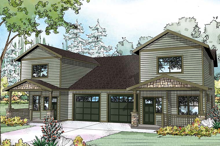 Traditional , Craftsman , Country , Contemporary Multi-Family Plan 41261 with 6 Beds, 6 Baths, 2 Car Garage Elevation