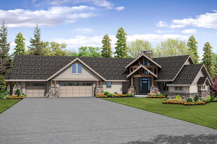 Craftsman Traditional House Plan 41263 Elevation