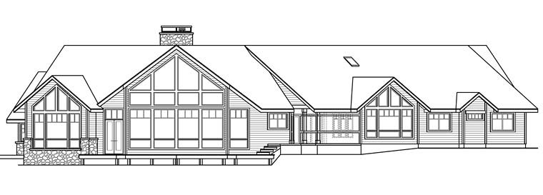 Craftsman Traditional House Plan 41263 Rear Elevation