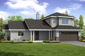 Country , Ranch , Traditional House Plan 41264 with 3 Beds, 4 Baths, 2 Car Garage Elevation