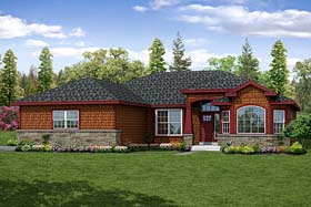 Bungalow Cottage Traditional House Plan 41267 Elevation