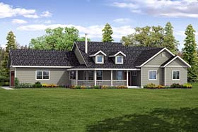 Country Ranch Traditional House Plan 41268 Elevation