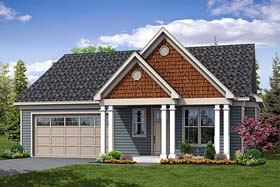 Bungalow Contemporary Cottage Traditional House Plan 41269 Elevation