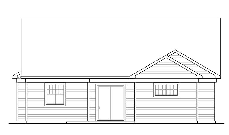 Bungalow Contemporary Cottage Traditional House Plan 41269 Rear Elevation