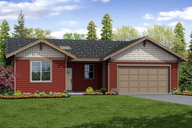 Cottage Country Ranch Southern Traditional House Plan 41270 Elevation