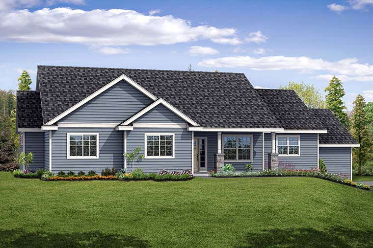 Contemporary Country Ranch Traditional House Plan 41271 Elevation