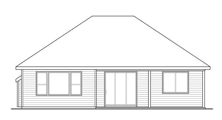 Cottage Country Traditional House Plan 41272 Rear Elevation