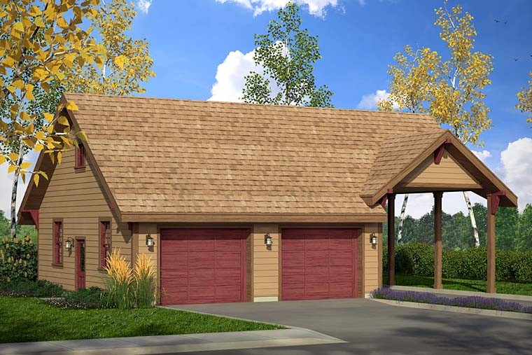 Craftsman Ranch Traditional Elevation of Plan 41273