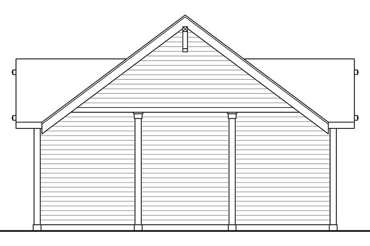 Craftsman, Ranch, Traditional 3 Car Garage Plan 41273 Picture 2