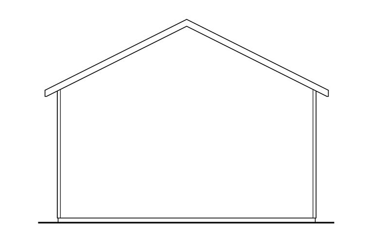 Traditional Garage Plan 41274 Rear Elevation