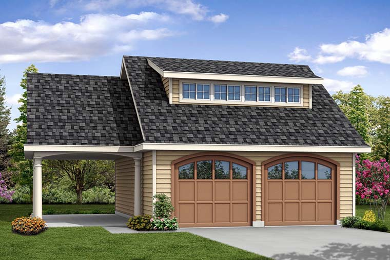 Contemporary Garage Plan 41275 Elevation