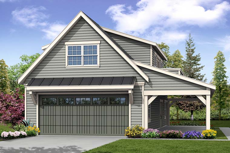 Country , Southern , Traditional 2 Car Garage Plan 41277, 1 Baths Elevation