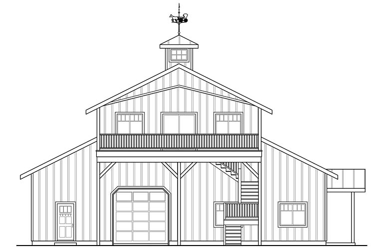 Country Southern House Plan 41279 Rear Elevation
