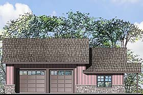 Garage Plan 41282 | Craftsman Style Plan with 693 Sq Ft, 1 Bedrooms, 1 Bathrooms, 4 Car Garage Elevation