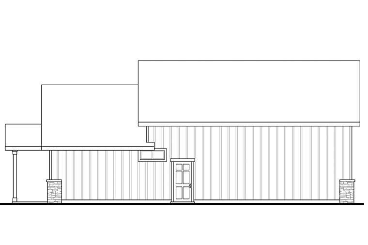 Craftsman Garage Plan 41282 Rear Elevation