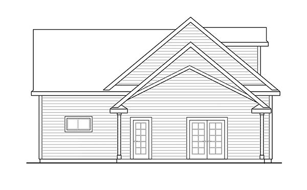 Ranch, Traditional 2 Car Garage Plan 41283 with 1 Beds, 1 Baths Picture 1