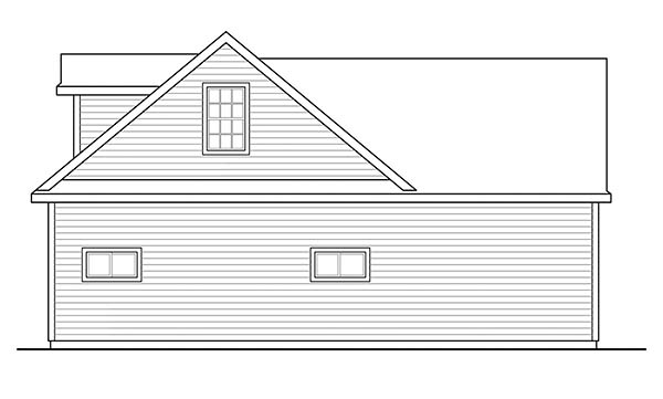 Ranch, Traditional 2 Car Garage Plan 41283 with 1 Beds, 1 Baths Picture 2