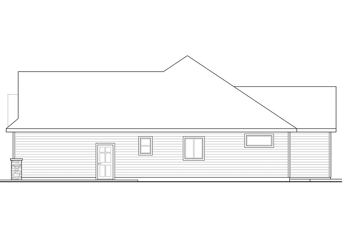 Country, Ranch, Traditional House Plan 41285 with 3 Beds, 3 Baths, 2 Car Garage Picture 1