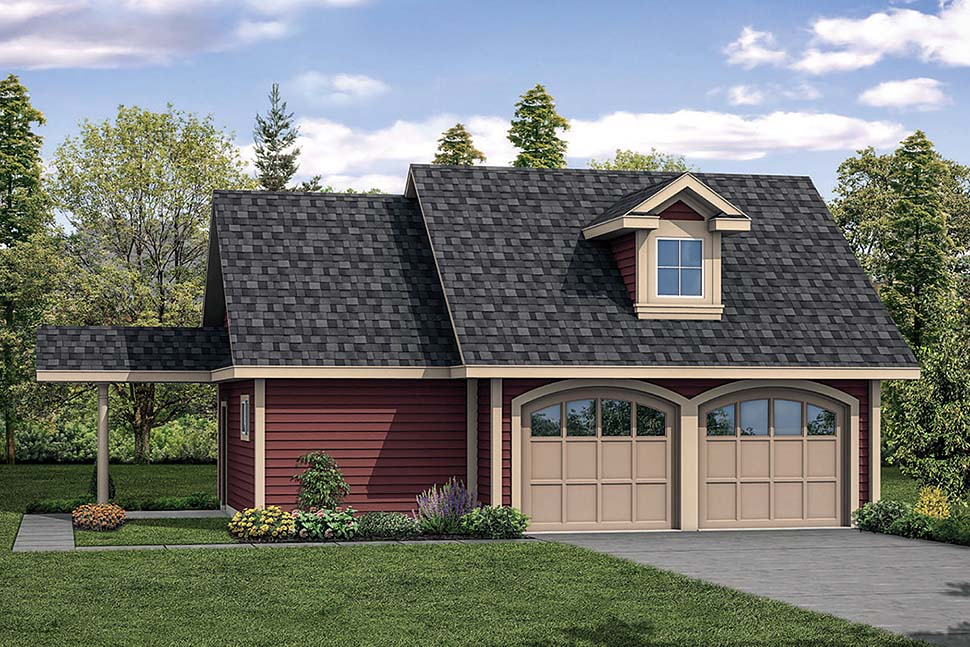 Country 2 Car Garage Plan 41288 Elevation