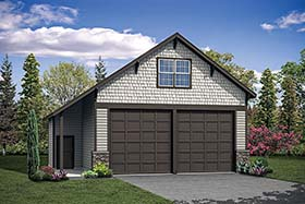 Garage Plan 41289 | Style Plan, 2 Car Garage Elevation