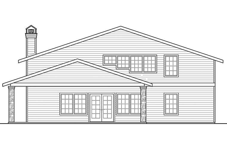 Country, Southern 4 Car Garage Apartment Plan 41290 Picture 1