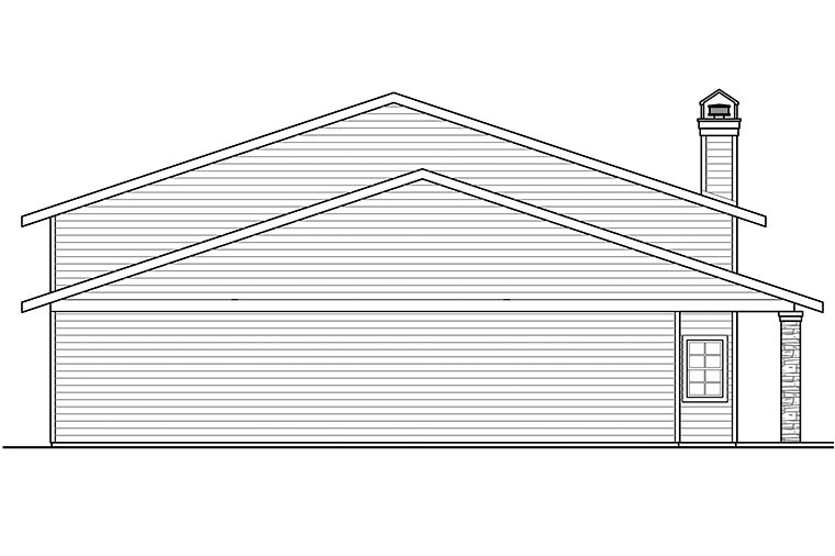 Country, Southern 4 Car Garage Apartment Plan 41290 Picture 2