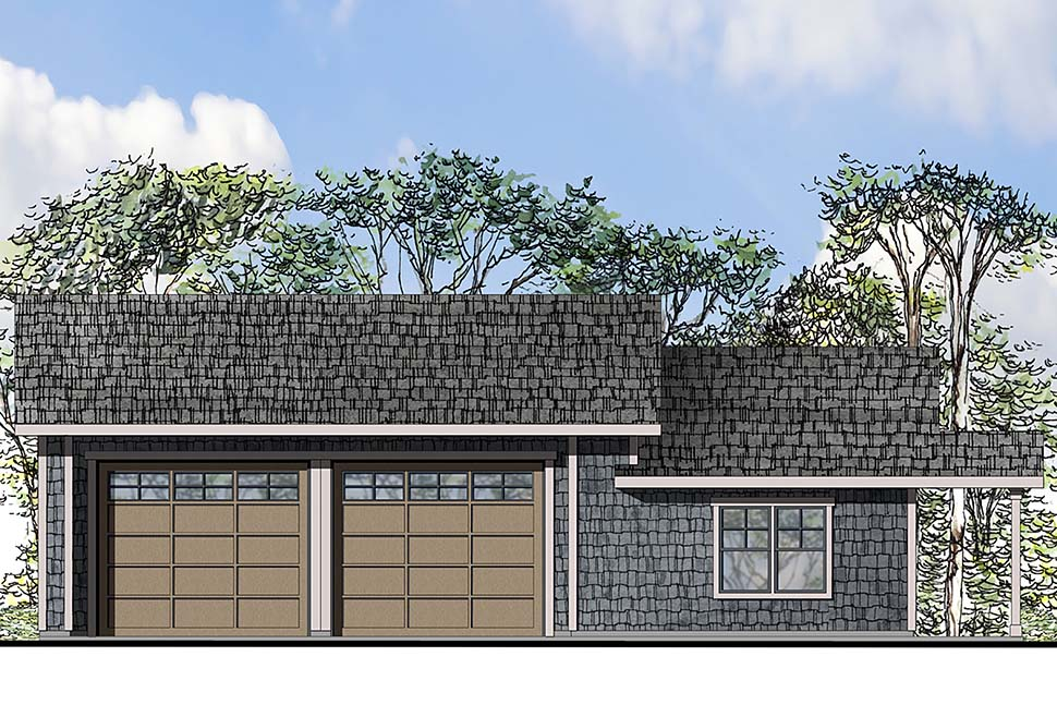 Ranch , Traditional 4 Car Garage Plan 41291 Elevation