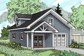 Country Craftsman Southern Traditional Garage Plan 41292 Elevation