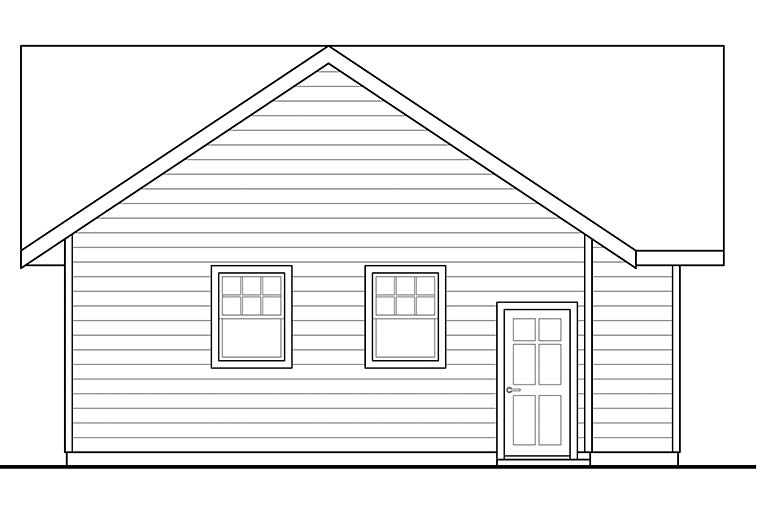 Traditional 2 Car Garage Plan 41293 Picture 2