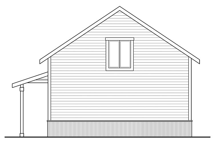 Country Rear Elevation of Plan 41294
