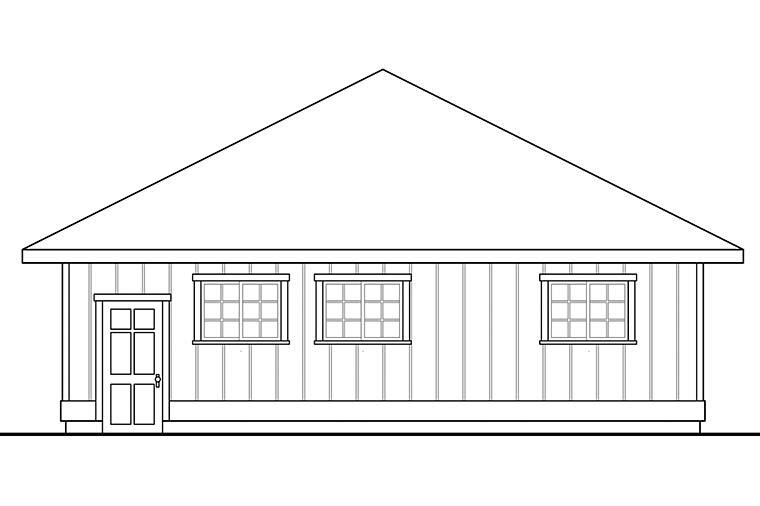 Traditional 3 Car Garage Plan 41295 Picture 1