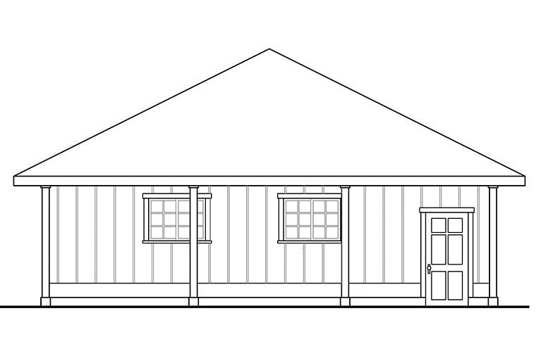 Traditional 3 Car Garage Plan 41295 Picture 2