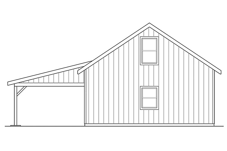 Traditional Rear Elevation of Plan 41296
