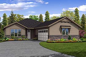 House Plan 41299 | Ranch Traditional Style Plan with 2004 Sq Ft, 3 Bedrooms, 2 Bathrooms, 2 Car Garage Elevation