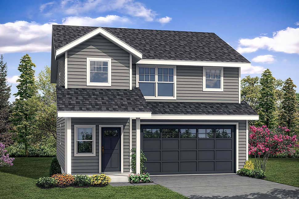 Country, Traditional House Plan 41304 with 3 Beds, 3 Baths, 2 Car Garage Elevation